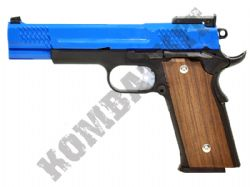 M945 Metal Gas Blowback Airsoft Gun Black and Blue